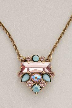 Anthropologie Glitzed Arrow Necklace in Pink