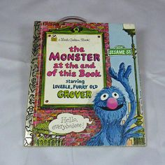 Remember Grover?  Vintage children's Little Golden Book The Monster
