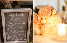 Love story timeline  Wedding styling by Pretty My Love // Photography by Kellie Blinco Photography