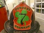 Five Alarm Leather Fire Helmet Fronts Fire Helmet, Leather Working