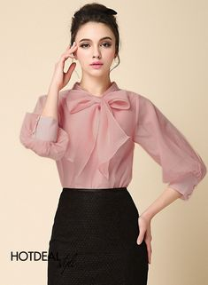 Blouse for Women with Casual and Loose Classy Outfits, Chic Outfits, Vintage Outfits, Cute Blouses, Shirt Blouses, Shirts, Beautiful Blouses, Mode Hijab, Business Outfits