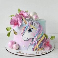Savory magic cake with roasted peppers and tandoori - Clean Eating Snacks Unicorne Cake, Cake Art, Cake Cookies, Cupcake Cakes, Cupcakes, Birthday Cake Girls, Unicorn Birthday Parties, 10 Birthday, Beautiful Cakes