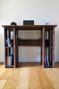 Rustic Standing Desk, Stand-up Desk, 100% Reclaimed Wood, Any Size, Ergonomic Office Furniture Love Wood Work produces artisanal lovingly hand-made