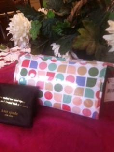 AUTHENTIC (NWT) Kate Spade Tutti Fruitti Dot Noel Medium Heddy Cosmetic Bag - $75