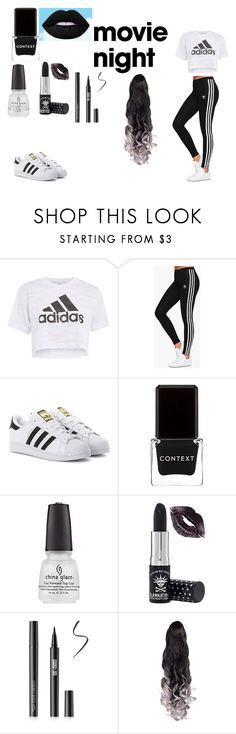 """Date night at the movies"" by harthur2021 ❤ liked on Polyvore featuring Topshop, adidas Originals, Context and Manic Panic NYC"