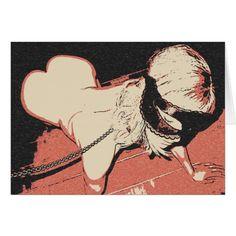 Kinky BDSM erotic art, pet on her place, knees Card #erotic #nude #Kinky #BDSM erotic #art, #slave #pet on her place, #knees #Card #sexy #postcard @zazzle