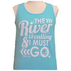 Girlie Girl Originals The River Lagoon Blue Bright Tank Top   SimplyCuteTees
