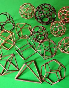 Bamboo kits for polyhedra models allow viewing from all sides