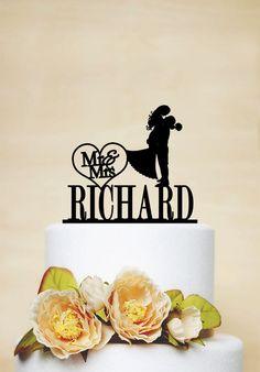 Acrylic Wedding Topper Personalized Wedding by AcrylicDesignForYou