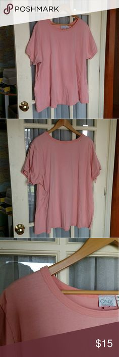 Blush Tie Sleeve Top Item # 046 💜Details: ❤Made in Pakistan ❤100% Cotton ❤Only Necessities ❤3X ❤Great lightly worn condition. ❤No trades ❤Reasonable offers always welcome  💜Measurements in inches (while laying flat): ❤Length: 28 1/2 ❤Bust: 29 1/2  ❤Shoulders: 19 1/2   Please comment any questions 💖🌈 Only Necessities Tops