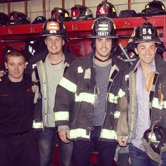 Zack Wheeler, Matt Harvey and David Wright visited Engine 54, Ladder 4 and Battalion 9 in Manhattan today to honor those lost on 9/11. #Padgram