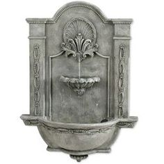 Formal Garden Wall Outdoor Fountain - Fountains at Hayneedle Indoor Waterfall Fountain, Water Wall Fountain, Indoor Wall Fountains, Tabletop Water Fountain, Indoor Fountain, Garden Fountains, Water Fountains, Fountain Garden, Fountain Ideas