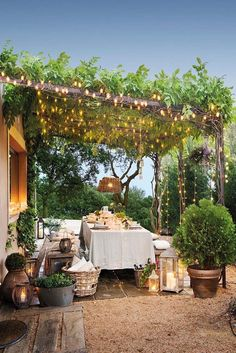 home exterior * home exterior . home exterior makeover . home exterior colors . home exterior ideas . home exterior design . home exterior colors schemes . home exterior makeover before and after . home exterior makeover on a budget Pergola With Roof, Covered Pergola, Pergola Kits, White Pergola, Corner Pergola, Covered Garden, Pergola Plans, Pergola With Lights, Gazebo Roof