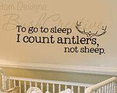Wall Decals Nursery Hunting Deer Baby Humor by bushcreative. Via etsy. This makes me smile