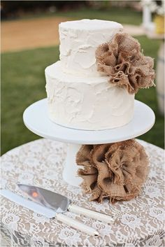 Rustic-Chic Wedding Cake Ideas