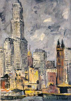 Joaquin Torres Garcia - Paisaje de Nueva York, 1920