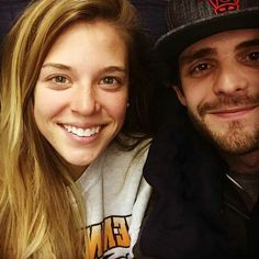 Thomas Rhett and His wife Lauren