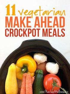 11 Vegetarian Make Ahead Crockpot Meals.