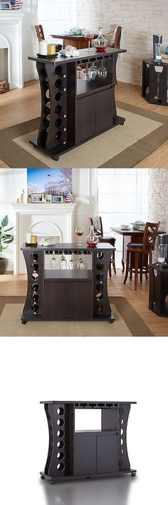 Home Pubs and Bars 115713: Home Bar Furniture Cabinet Modern Wine Rack Liquor Storage Portable Pub Bottle -> BUY IT NOW ONLY: $289.9 on eBay!
