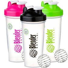 Blender Bottle. I bought a pink one, of course.