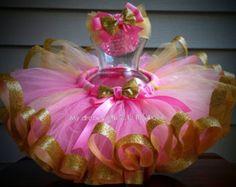 Pink and gold tutu