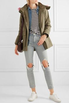 J.Crew - Collection Faux Fur-trimmed Cotton-canvas Parka - Army green - x small