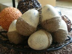 These Creative Juices: Twine and Speckled Eggs!