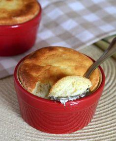 Vanilla Bean Ricotta Cheesecake Souffles.