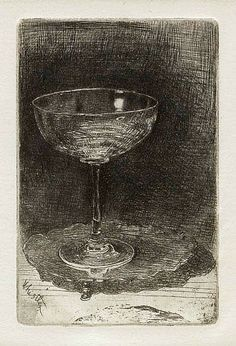 James Whistler The Wine Glass 1859 - still life quick heart