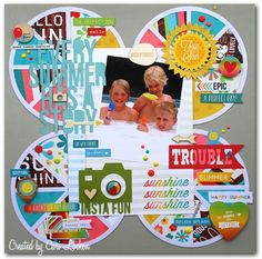 Me and My Thoughts: Here's a layout that I created using the Silhouette FREE shape of the week!