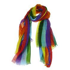 #Multi-Color Cashmere Scarf.  Scarves #2dayslook #Scarves #kelly751#sasssjane #sunayildirim  www.2dayslook.com