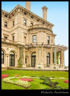 """Architectural Photography. The Breakers is the grandest of Newport's summer """"cottages"""" and a symbol of the Vanderbilt family's social and financial preeminence in turn of the century America. Commodore Cornelius Vanderbilt (1794-1877) established the family fortune in steamships and later in the New York Central Railroad, which was a pivotal development in the industrial growth of the nation during the late 19th century.(visit The Preservation Society of Newport County) Photo Roberto…"""
