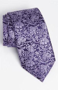 Purple silk tie | Ermenegildo Zegna