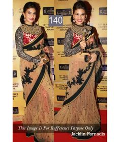Bollywood Designer Jacqueline Gold Party Wear Saree