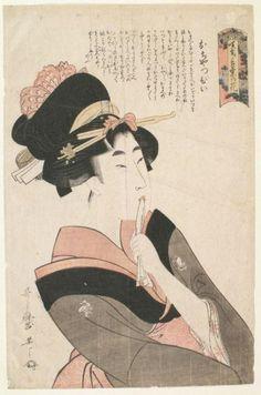 Petulance - The Precocious Girl by Kitagawa Utamaro