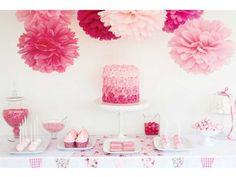 Pompon festa rosa