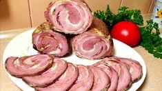 1 Chrumkavá slávnostná rolka Potrebujeme: Mleté mäso – 1,5 kg cibuľa – 2 ks vajcia – 3 ks Soľ Čierne korenie Krupica – 3 – 4 polievkové lyžice Bravčovú slanina surovú – 500 g Cesnak – 5 strúčikov Vrecko na pečenie Postup: Mleté mäso ochutíme, pridáme vajcia, nakrájanú cibuľku, krupicu a zamiešame. Slaninu narežeme na... Types Of Sausage, Homemade Sandwich, Meat Sandwich, Cooking Recipes, Healthy Recipes, Top 5, Smoking Meat, Charcuterie, Pork