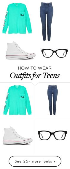"""Teens ❤️"" by kenadyjo on Polyvore featuring Victoria's Secret and Converse"