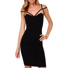Cheap Sexy V Neck Off The Shoulder Sleeveless Black Blending Sheath Mini Dress