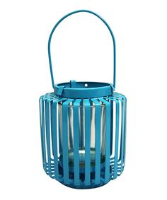 Look at this Turquoise Hanging Cylinder Candle Lantern on #zulily today!