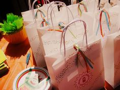 Washi Tape on Favor Bags