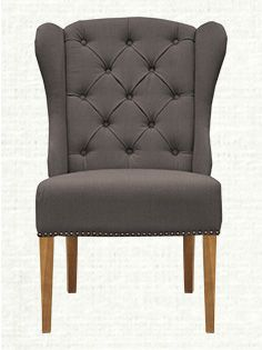 Greyson Tufted Upholstered Dining Side Chair In Charcoal And Weathered