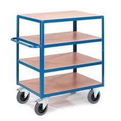GTARDO.DE:  Tischwagen 4 Ladeflächen, Tragkraft 600 kg, Ladefläche 1000x700 mm, Maße 1150x700 mm 438,00 €