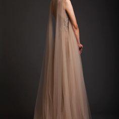 Krikor Jabotian Casual Backless Beige Dress with Floral Sequin Motifs