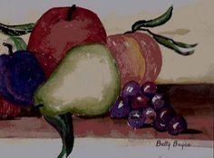 Still Life With Fruit By Betty Boyce II