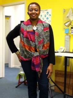 My 1010 Scarf Vest.  I can wear this 10 different ways. I'm wearing it upside down!