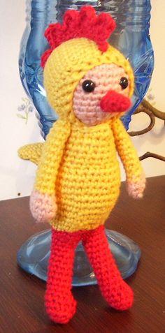 amigurumi #doll in a chicken costume
