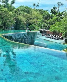 A swimming pool is one of the favorite places to refresh our mind. It is no wonder that people will seek the resort with modern and luxurious swimming pool to spend their vacation. A nice swimming pool design will require . Hotel Swimming Pool, Luxury Swimming Pools, Luxury Pools, Dream Pools, Swimming Pool Designs, Indoor Swimming Pools, Beautiful Places To Travel, Cool Places To Visit, Places To Go