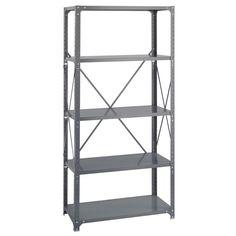 Safco 5-shelf 36-inch Wide x 18-inch Deep x 72-inch High Commercial Shelf Kit