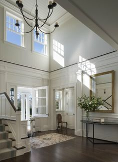 Entry Foyer - A Summer Cottage in the Hamptons - John B. Murray Architect - Interior Design by Victoria Hagan - Photography by Durston Saylor Foyer Design, Design Entrée, Design Ideas, Design Elements, Design Styles, Design Firms, Design Trends, Hamptons Style Homes, The Hamptons